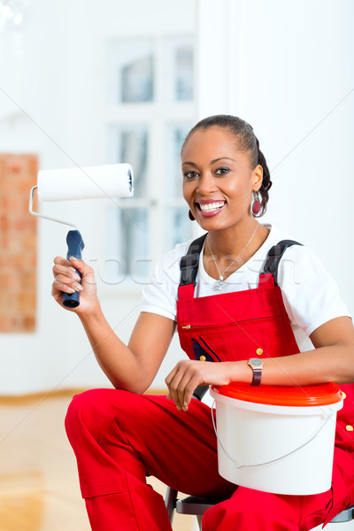 Woman in her home renovating diy Stock photo © Kzenon