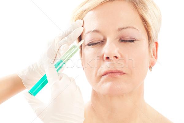 Botox idade beleza médico mulher médico Foto stock © Kzenon