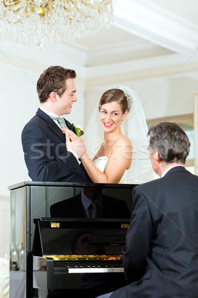 çift piyano piyanist oynama vals Stok fotoğraf © Kzenon