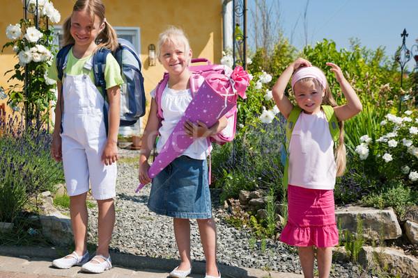 Schoolchildren on their way to school Stock photo © Kzenon