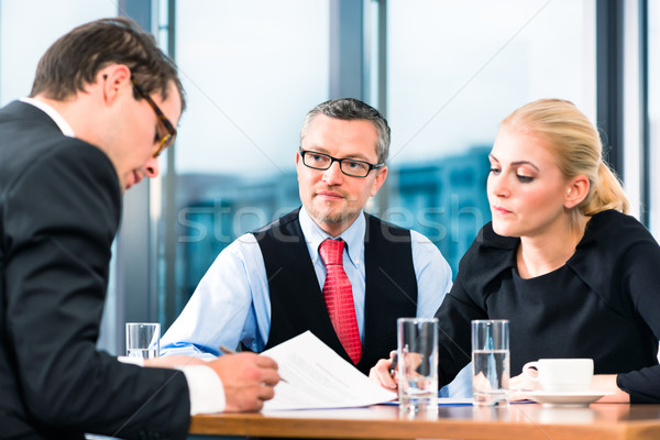 Business - Job Interview and contract signing Stock photo © Kzenon