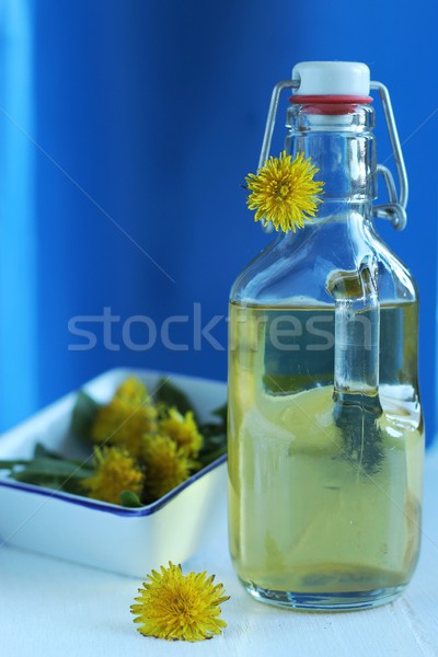 dandelion syrup - natural medicine Stock photo © laciatek