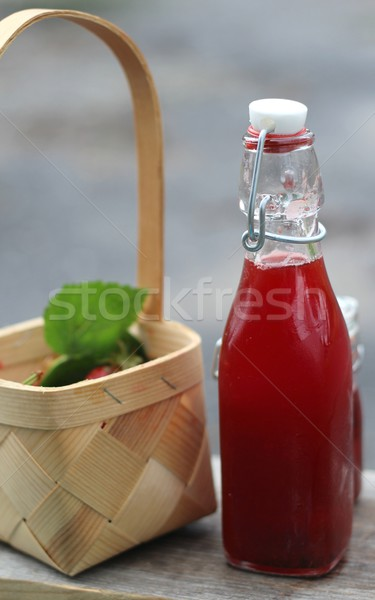 Homemade natural strawberry juice  Stock photo © laciatek