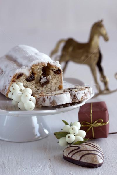 Noël gâteau pain d'épice fond amusement fruits Photo stock © laciatek