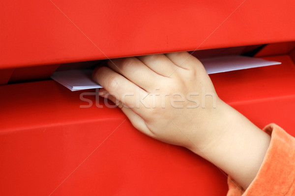 Stockfoto: Hand · brief · mailbox · vak · mail · envelop