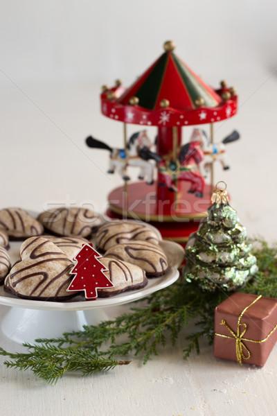 Natal tempo fundo bolo vida dom Foto stock © laciatek