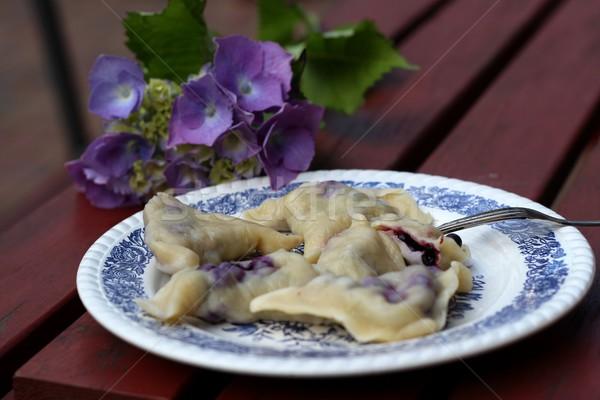 Polish Pierogi with blueberries  Stock photo © laciatek