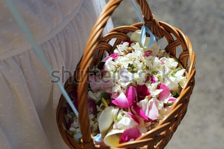 wicker baskets with flowers petals Stock photo © laciatek