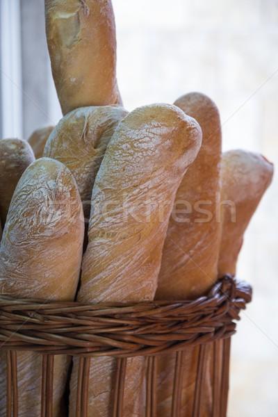 свежие багеты корзины хлеб пшеницы диета Сток-фото © laciatek
