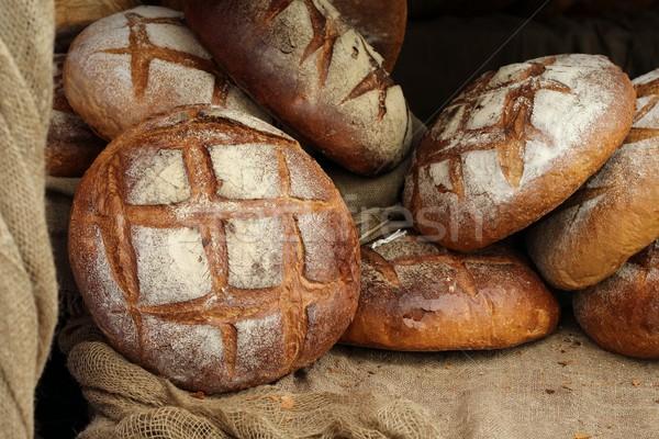 Chleba tle pszenicy życia jedzenie świeże Zdjęcia stock © laciatek