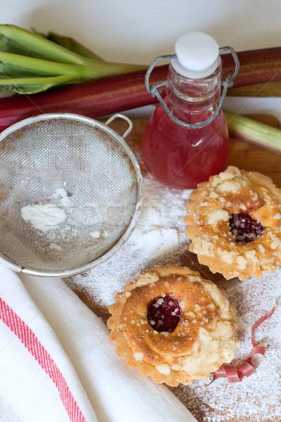 rhubarb pie and lemonade Stock photo © laciatek