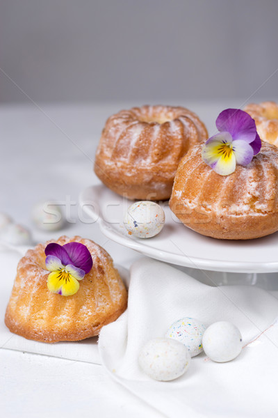 Stock photo: Easter cakes and eggs