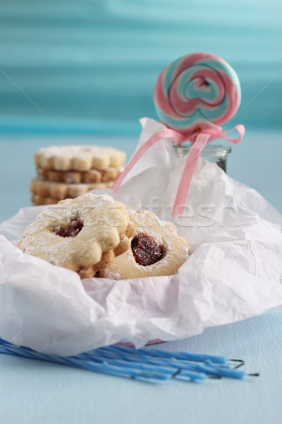 shortbread cookies and birthday party Stock photo © laciatek