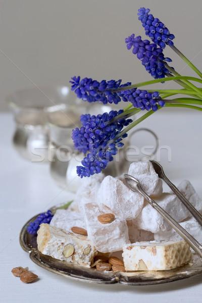 Thee plaat druif honing zoete suiker Stockfoto © laciatek