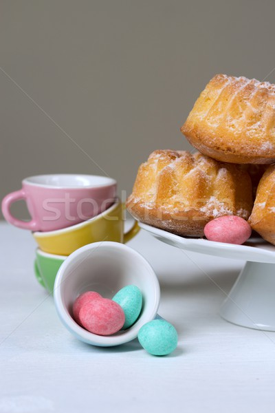 Stock photo: Easter cakes and chocolate eggs