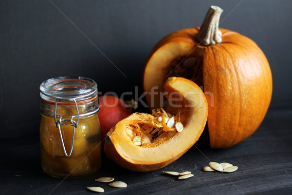 pumpkin and pumpkin preserves Stock photo © laciatek