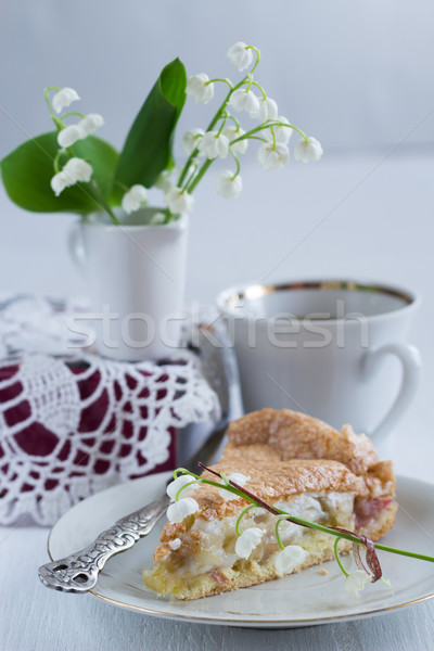 Ravent elmalı pay gıda kutlama lezzetli tat Stok fotoğraf © laciatek