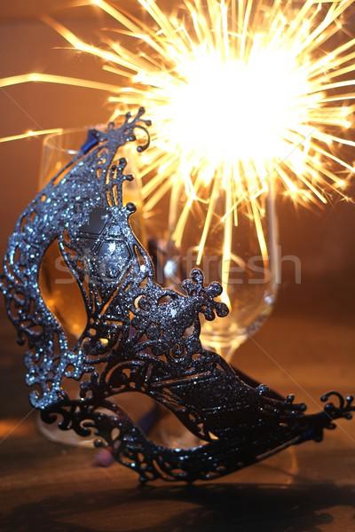 Carnaval luz fundo beleza arte bola Foto stock © laciatek