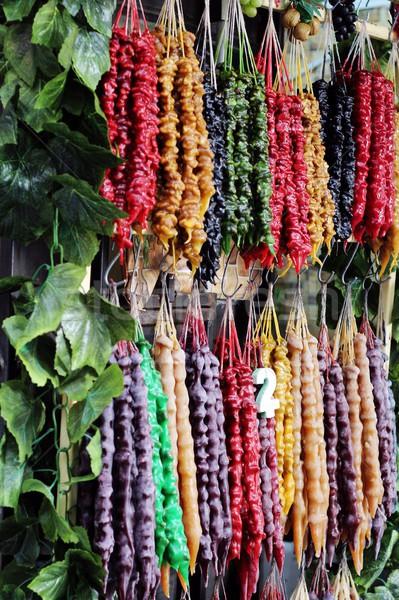 Utca piac Grúzia hagyományos cukorka Stock fotó © laciatek