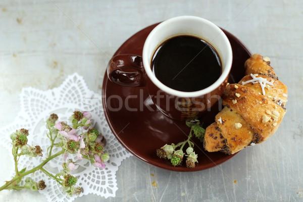 Café comida fundo beber café preto Foto stock © laciatek