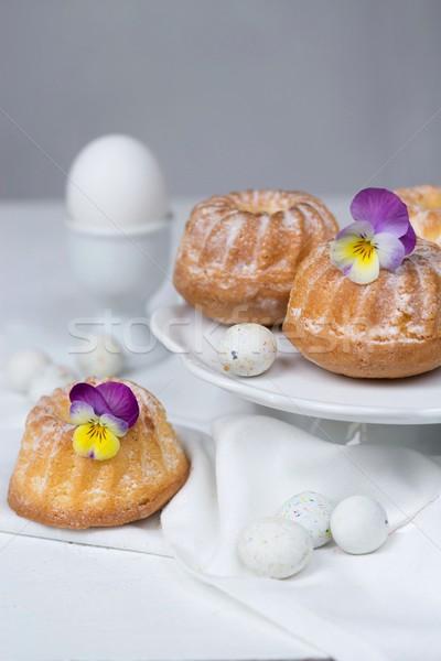 Húsvét torták tojások csokoládé torta piros Stock fotó © laciatek