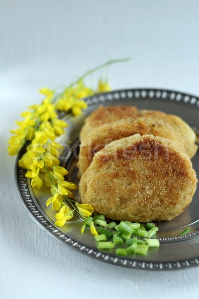 vegan potato cutlets Stock photo © laciatek