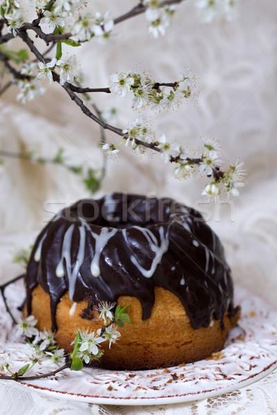 торт цветения веточка Пасху цветы фон Сток-фото © laciatek