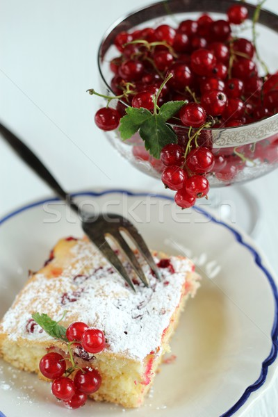 cake with red currant Stock photo © laciatek
