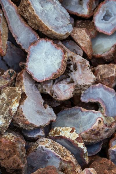 Stockfoto: Agaat · textuur · achtergrond · ruw · gestreept · mineraal