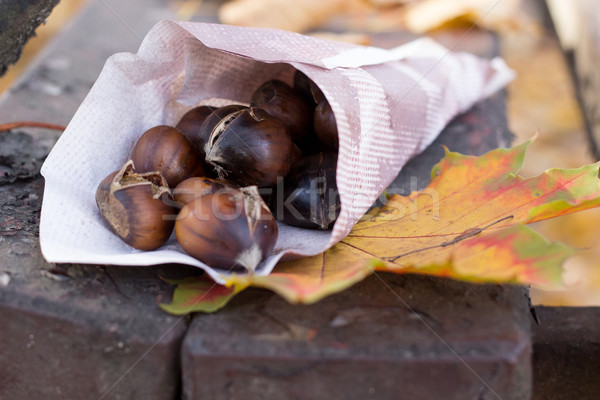 roasted chestnuts Stock photo © laciatek