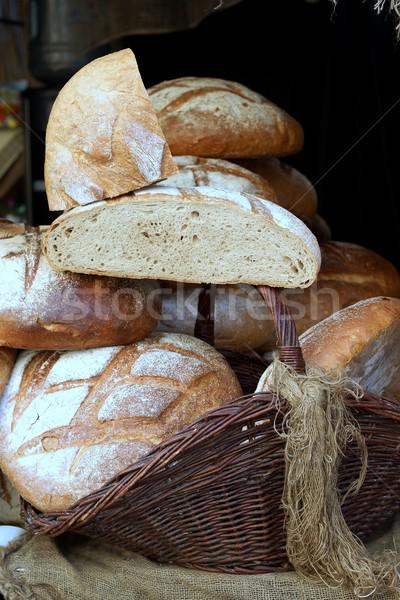 Pão fundo trigo alimentação fresco semente Foto stock © laciatek