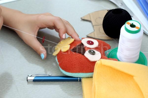 hand sewing Stock photo © laciatek