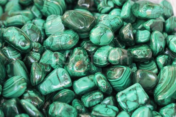 Malaquita textura abstrato projeto fundo pedra Foto stock © laciatek