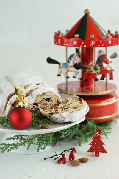 Christmas cake snuisterij carrousel muziek vak Stockfoto © laciatek