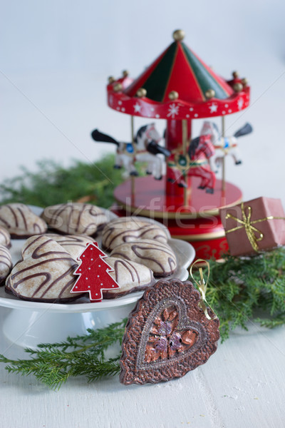 Noël temps fond gâteau vie cadeau Photo stock © laciatek