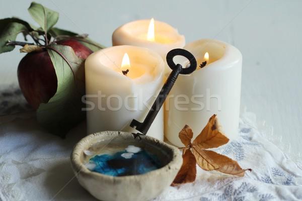 divination of wax Stock photo © laciatek