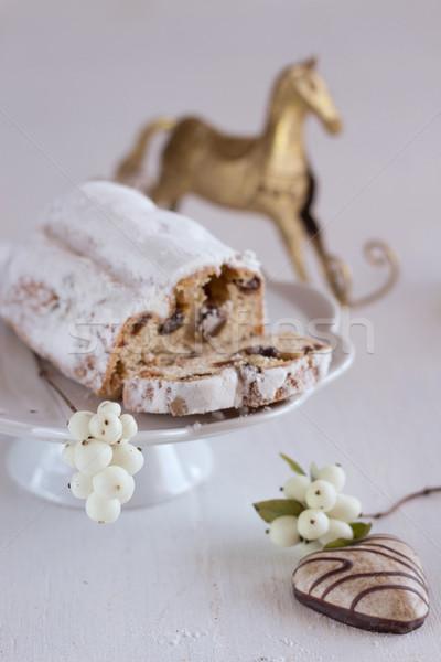 Noël gâteau pain d'épice alimentaire fond hiver Photo stock © laciatek