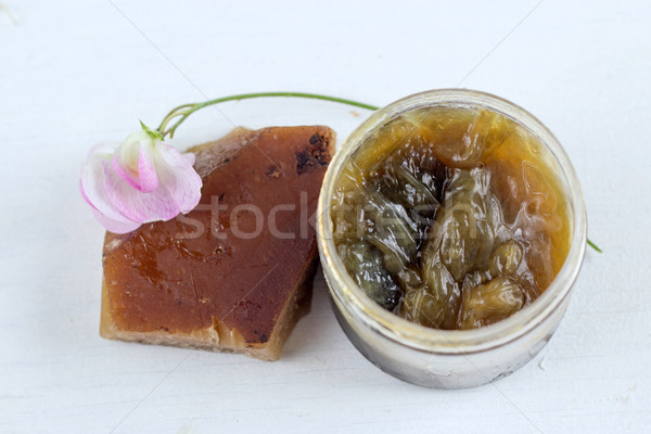 traditional black soap - savon noir Stock photo © laciatek