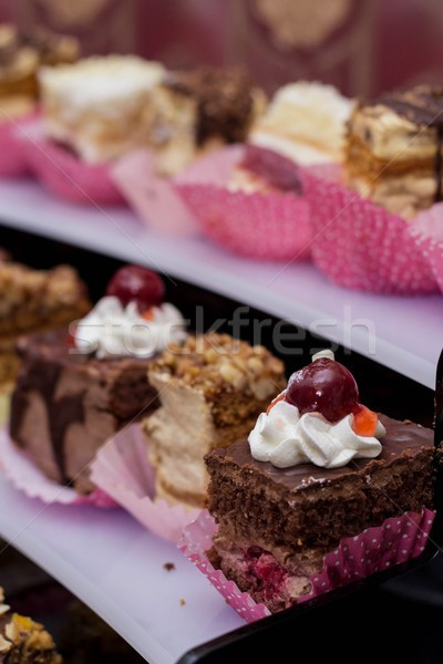 delicious cakes: chocolate and jelly Stock photo © laciatek