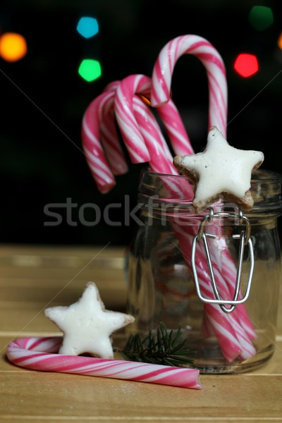 Christmas candies in a glas jar Stock photo © laciatek