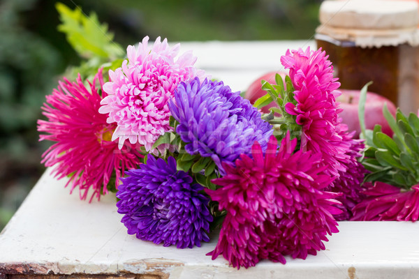 asters on a table outdoors Stock photo © laciatek
