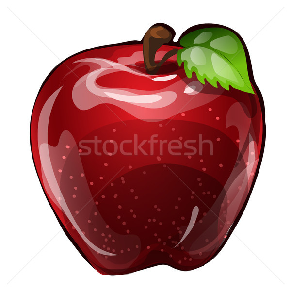 Suculento maçã vermelha isolado branco elemento dieta saudável Foto stock © Lady-Luck
