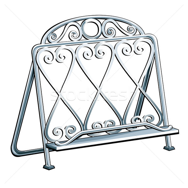 Vintage wrought iron bookends isolated on a white background. Vector illustration. Stock photo © Lady-Luck