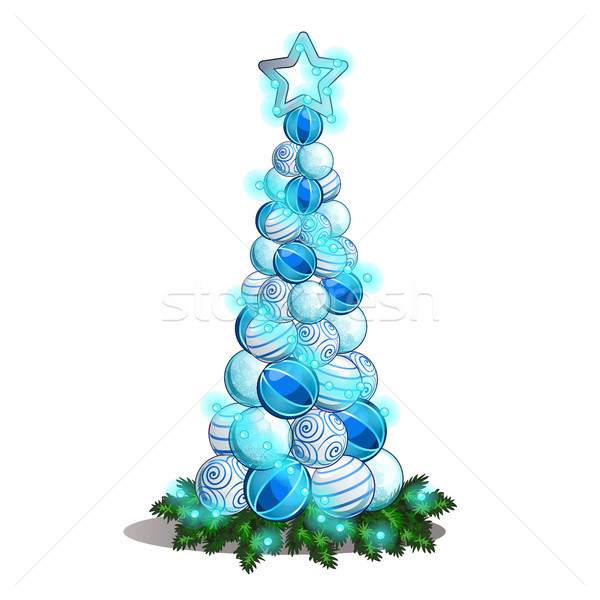 Boceto Navidad vidrio forma Foto stock © Lady-Luck