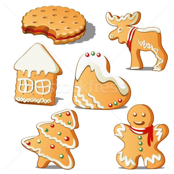Sweet праздник Cookies форме звездой Сток-фото © Lady-Luck