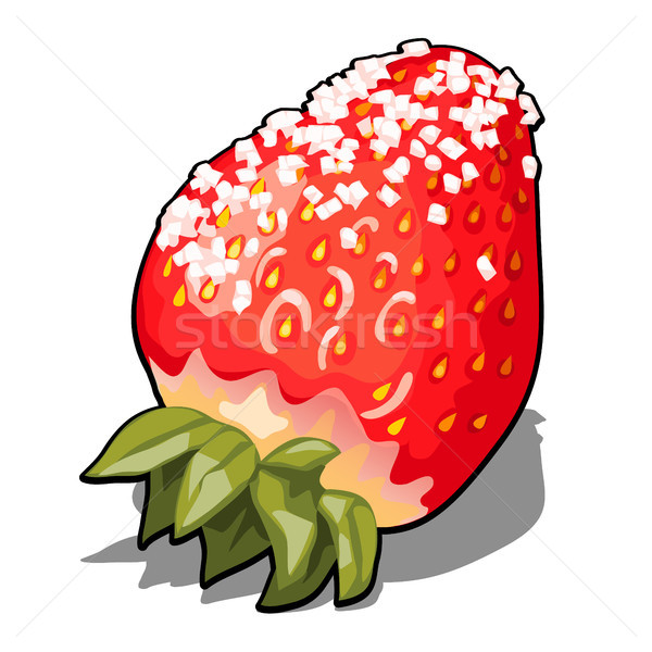 Ripe red berry strawberries sprinkled with sugar. Element of a healthy diet. Delicious and healthy o Stock photo © Lady-Luck