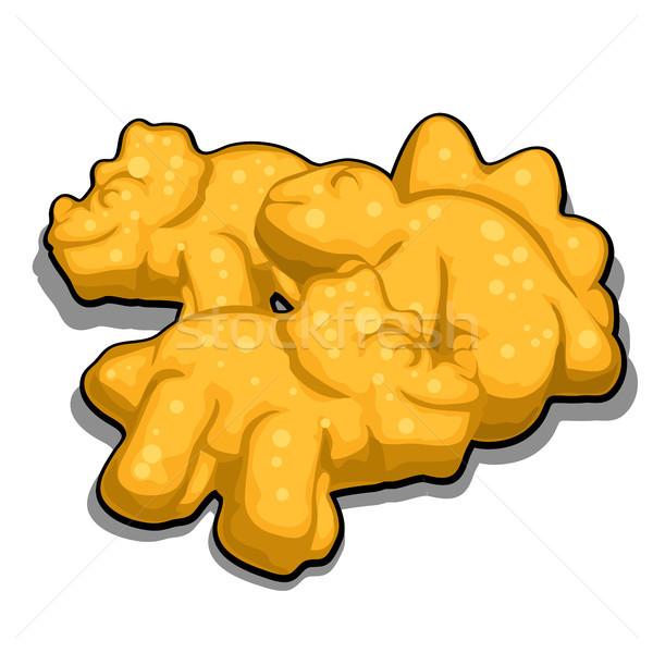 Cookies vorm geïsoleerd witte cartoon Stockfoto © Lady-Luck