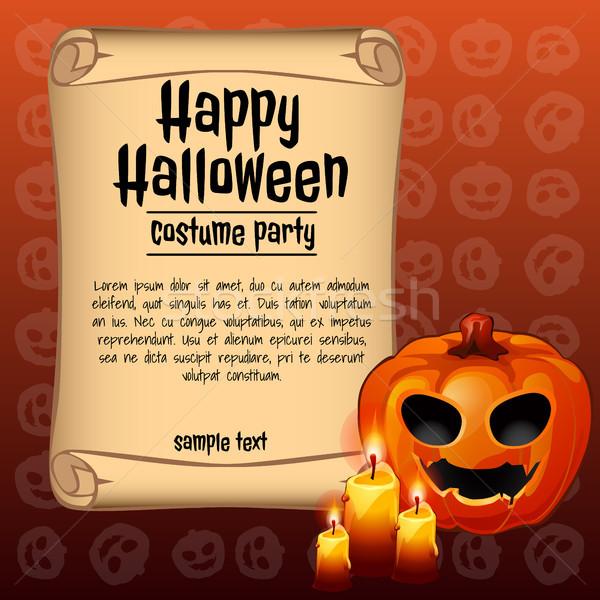 плакат Хэллоуин праздник эскиз пространстве текста Сток-фото © Lady-Luck