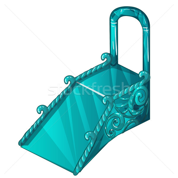 Ice slide isolated on white background. Vector cartoon close-up illustration. Stock photo © Lady-Luck