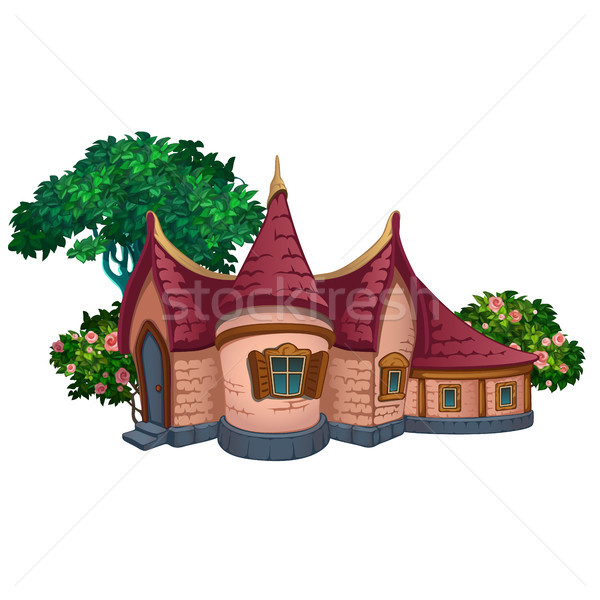 A fabulous house in the park. Vector illustration. Stock photo © Lady-Luck